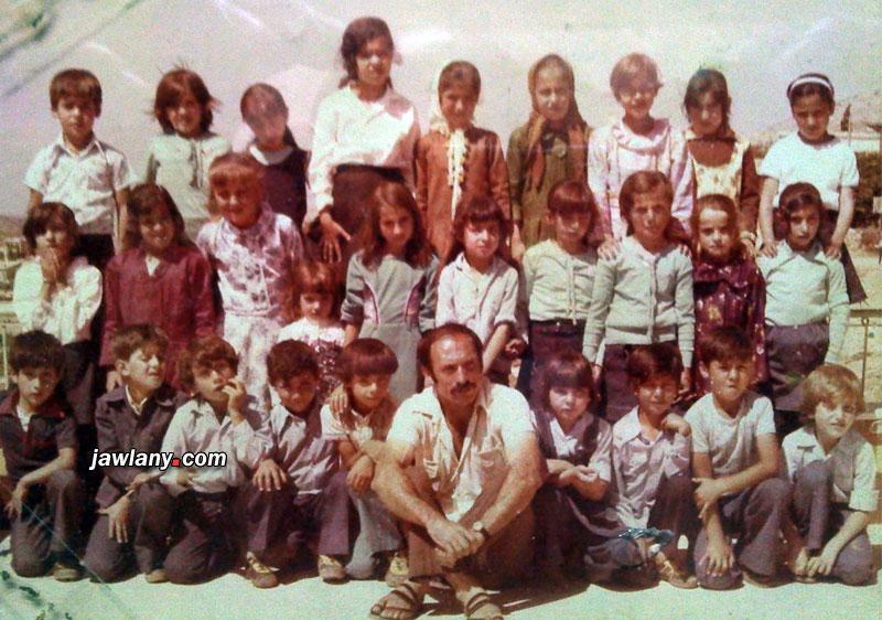أرسلت من قبل السيد ياسر أيوب ويقول أنها التقطت في العام 1977 ويظهر فيها طلاب صفه